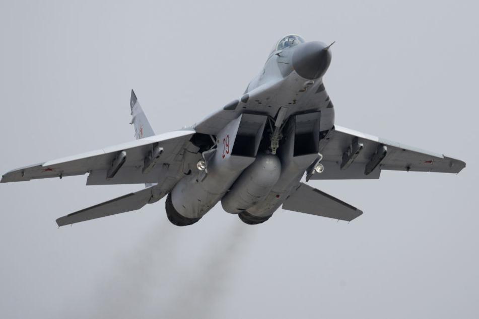 Ein MiG-29-Kampfjet der russischen Armee (Symbolbild).