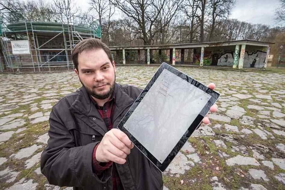 Piraten-Stadtrat Toni Rotter (29) will die Schlossteichinsel mit freiem WLAN ausstatten.