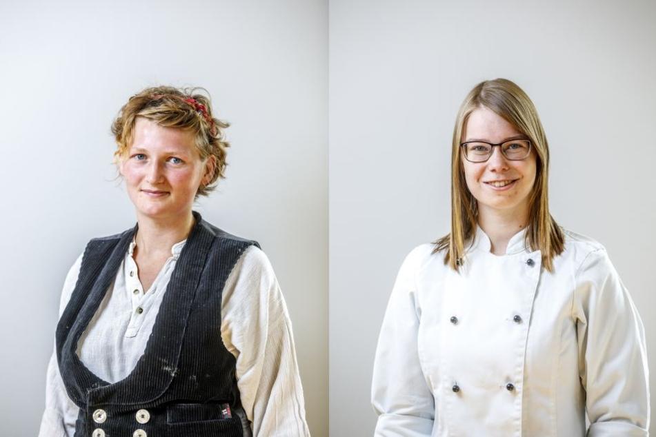 Thea Geißler (23. li.) und Romy Otto (20).