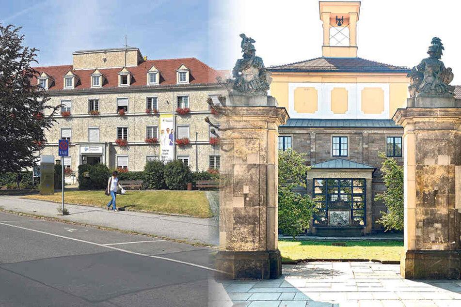 2017 sollen die beiden Kliniken Neustadt und Friedrichstadt (re.) fusionieren.