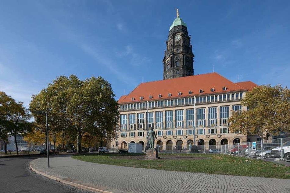 Das Rathaus und die Ämter der Stadt Dresden sind nur eingeschränkt arbeitsfähig.