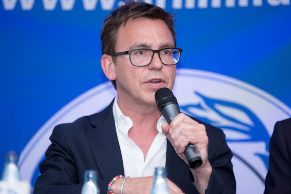 Markus Rejek verkündete die Schulden-Freiheit des Vereins.