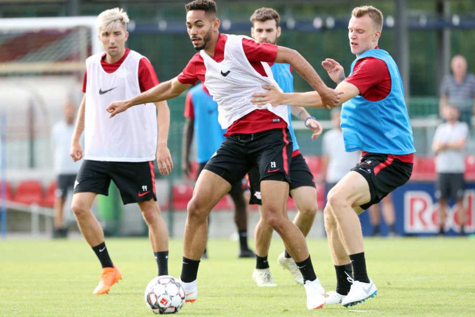 Noch trainieren die RB-Spieler am Cottaweg. Am 26. Juli werden sie dann offenbar gegen BK Häcken erstmals in einem Pflichtspiel ran müssen.