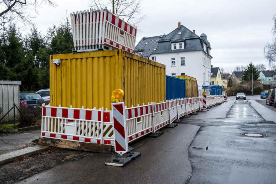 Nach der Weihnachtspause geht's in Limbach-Oberfrohna wieder mit Bauarbeiten los.