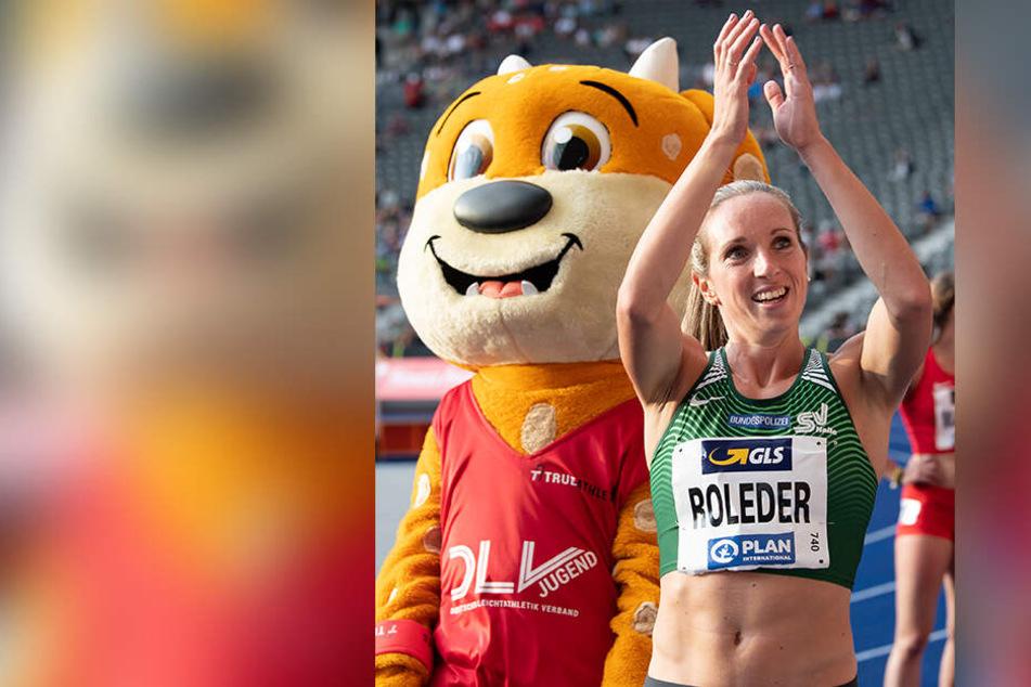 Cindy Roleder hat die Goldmedaille über 100-Meter-Hürden gewonnen.