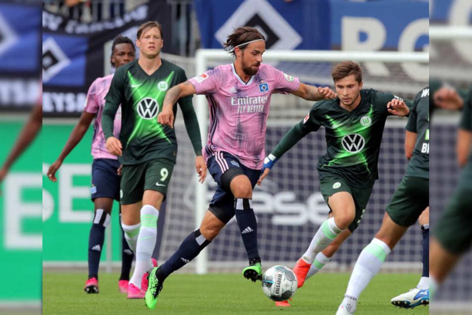 Martin Harnik lief im Test beim VfL Wolfsburg zum ersten Mal für den HSV auf.