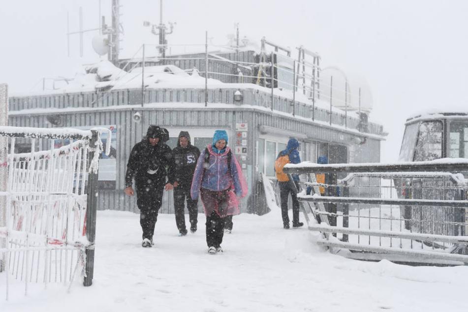 Auf der Zugspitze wurde es in der Nacht bitter kalt! (Archivbild)