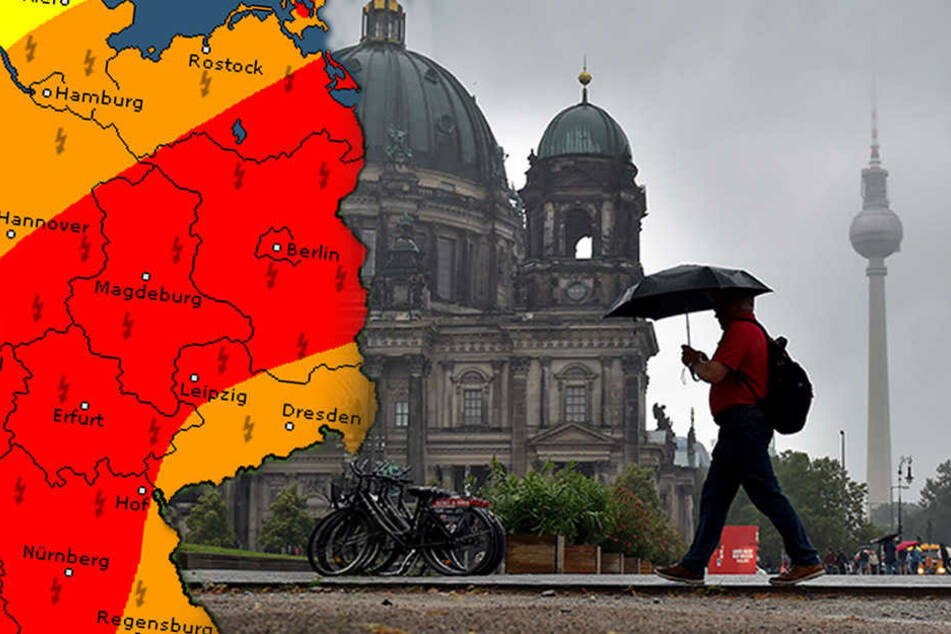 In Berlin und Brandenburg herrscht Warnstufe drei. Neben einer Hitzewarnung, wurde auch eine Unwetterwarnung herausgegeben.