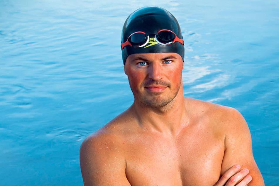 Extremschwimmer Joseph Heß (30) machte mit seiner Schwimmtour durch die Elbe 2017 Schlagzeilen. Nun hat er neue Ziele.
