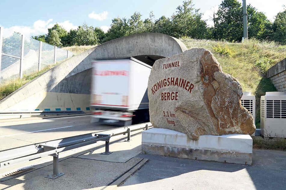 Der Tunnel Königshainer Berge wird mal wieder gewartet.
