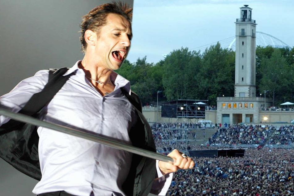 Sänger Dave Gahan (55) wird vor 70.000 Fans auf der Leipziger Festwiese auftreten.