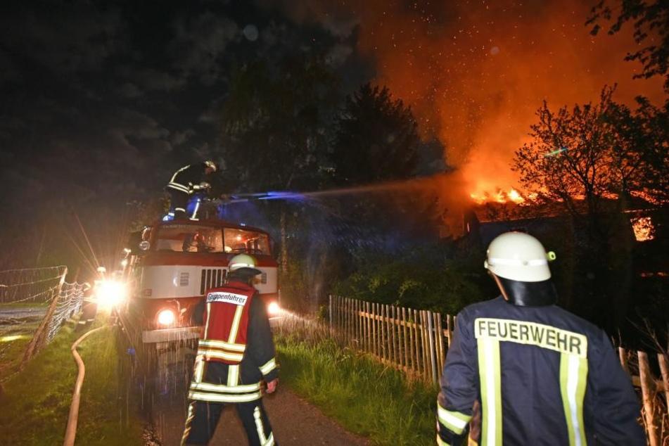 In Neukuppritz brannte am späten Mittwochabend ein Wohnhaus.