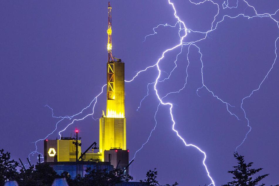 Trotz des heftigen Unwetters kam es in Frankfurt nicht zu einer Häufung von Einsätzen.