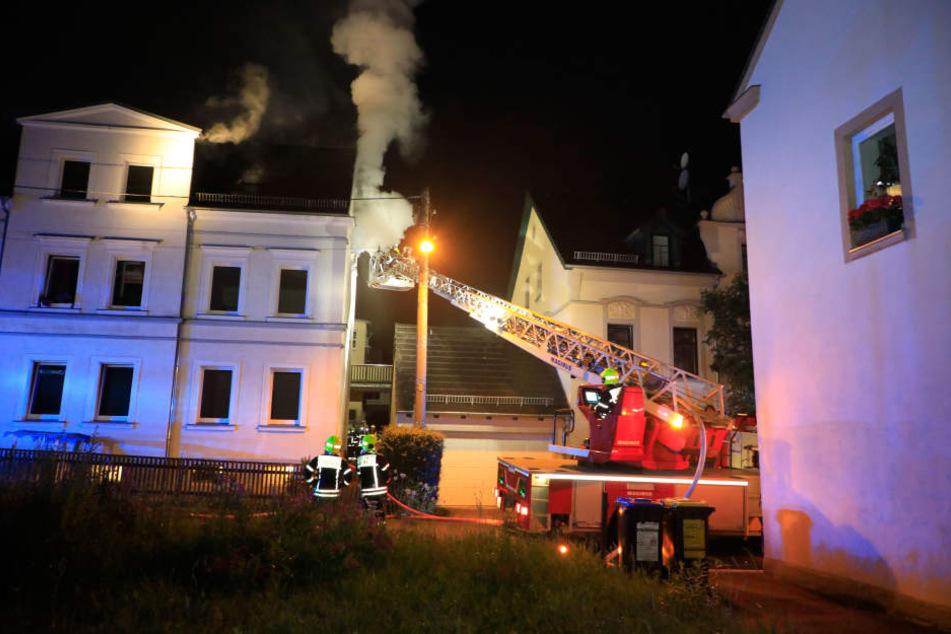 Im Dachgeschoss eines Hauses in der Mühlgasse brannte es.