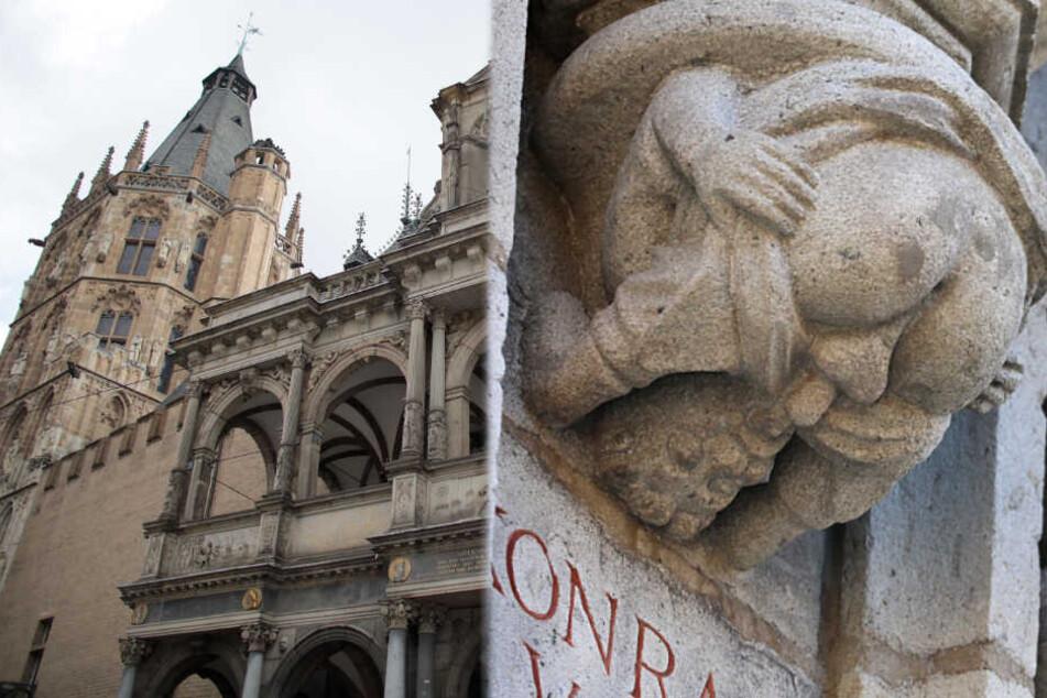 Steinfigur mit Penis im Mund sorgt für Rätselraten auf Twitter