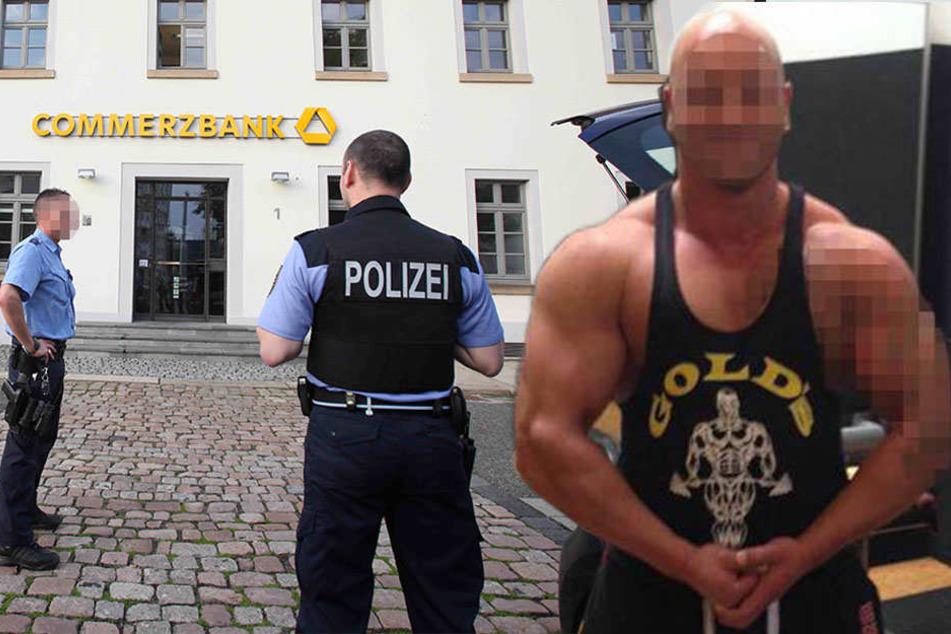 Bodybuilder stirbt in Bankfiliale: Drei Polizisten in Zwickau vor Gericht