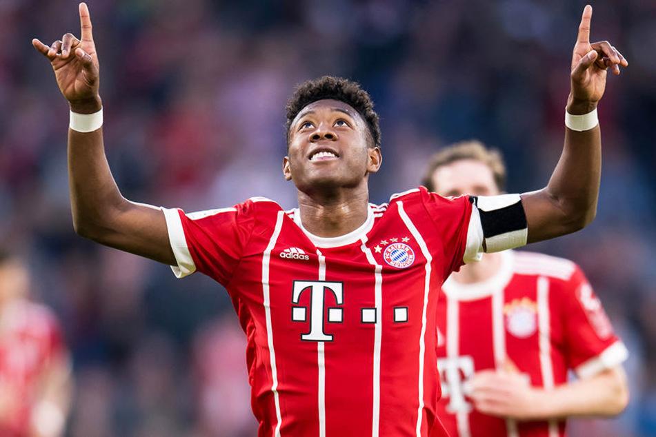 Wird laut eigener Aussage auch in Zukunft für den FC Bayern München jubeln: David Alaba.