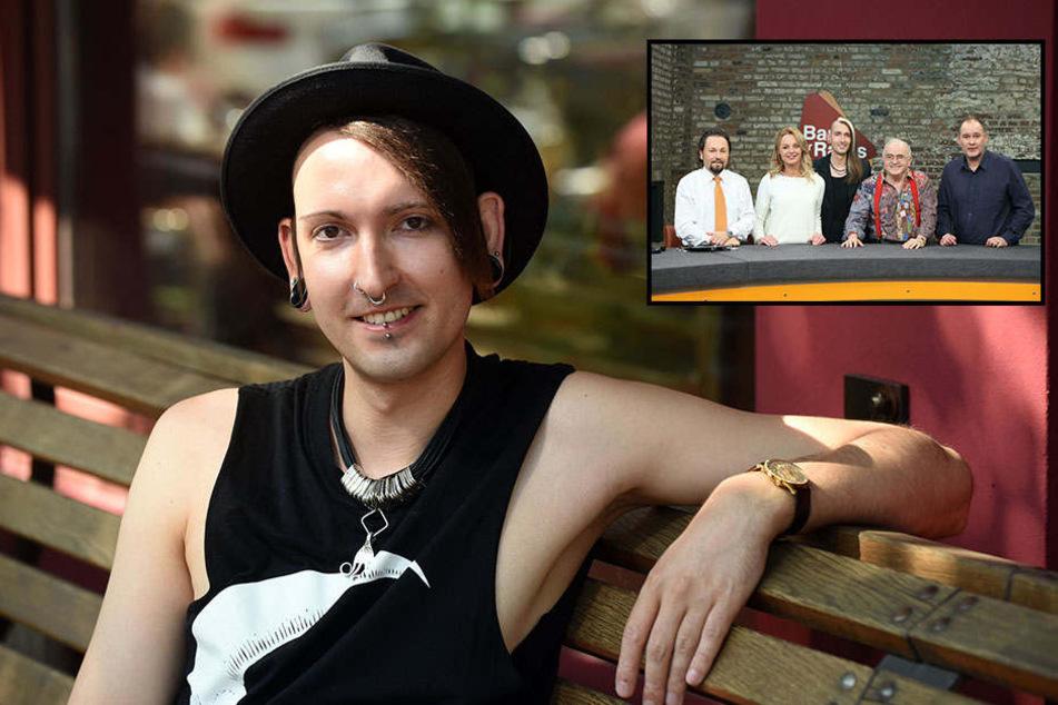 """Fabian Kahl im Leipziger Cafe Puschkin. Er gehört als Kunsthändler zum TV-Team von """"Bares für Rares"""". Die Trödel-Show von Horst Lichter läuft im Nachmittag"""