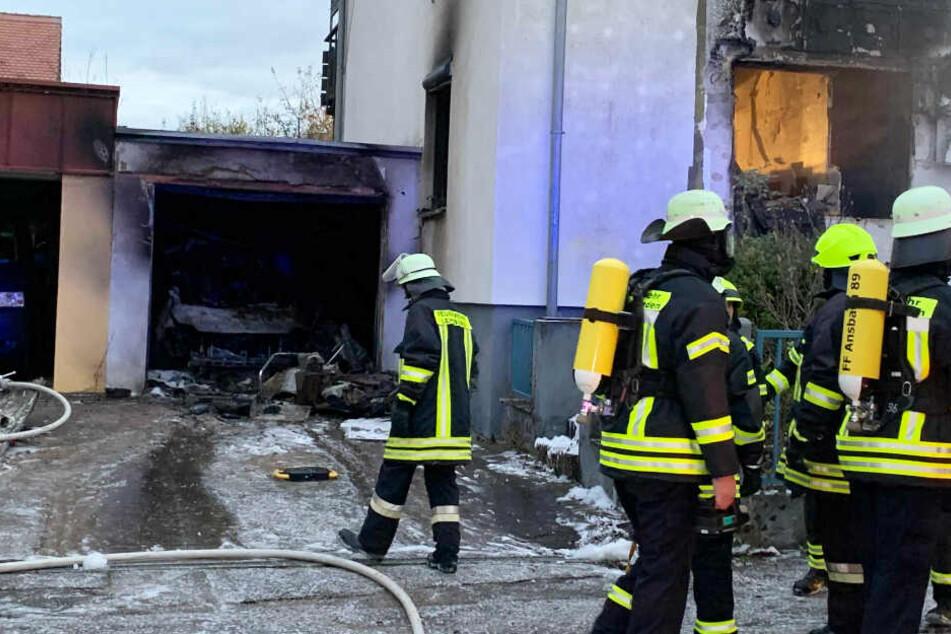 In Ansbach ist am Donnerstag ein Reiheneckhaus explodiert.