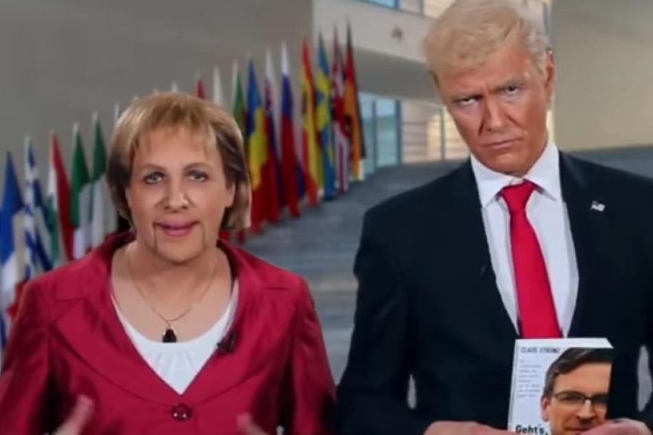 """""""Er kann gar nicht lesen"""": Pocher mimt Merkel, Knop macht auf Trump!"""