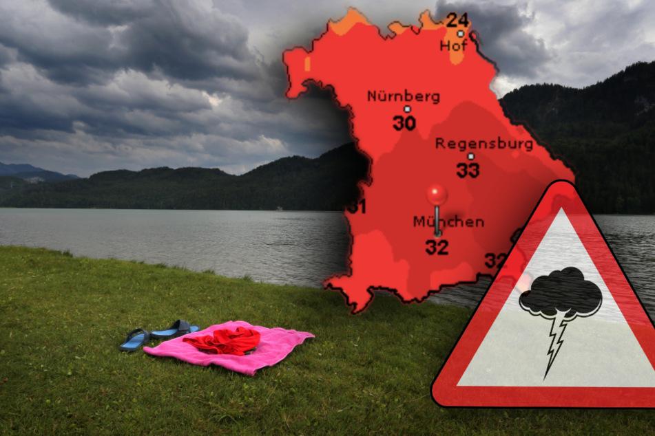 Achtung, jetzt kracht's! Schwere Gewitter in Bayern erwartet