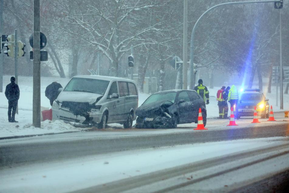 Auf der Crimmitschauer Strasse kam es zu einem Unfall.