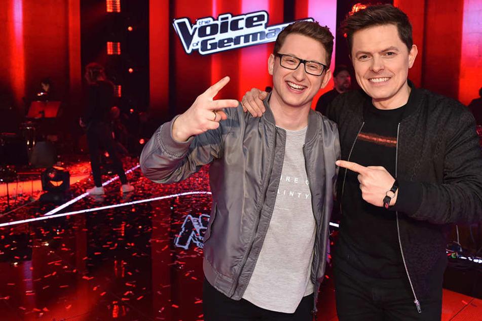 Samuel Rösch (24) und sein Mentor Michael Patrick Kelly (41) feierten letzten Sonntag den Sieg in der Vox-Gesangs-Show.
