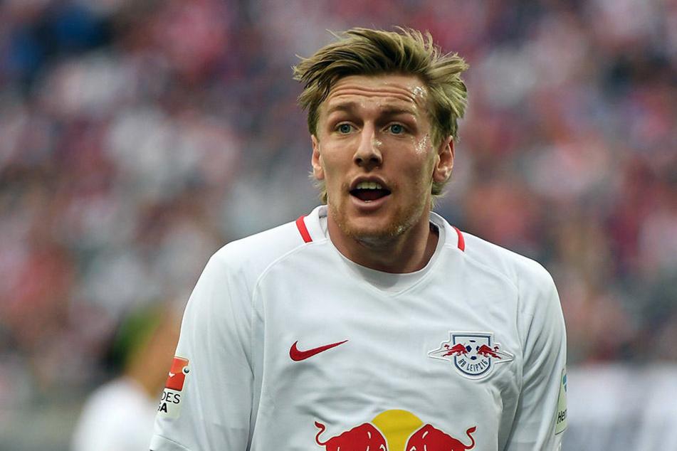 Emil Forsberg spielte mit 30 Torbeteiligungen in 30 Spielen eine große Rolle bei der Leipziger Vizemeisterschaft. Liebäugelt er nun mit einem Wechsel zum AC Mailand?