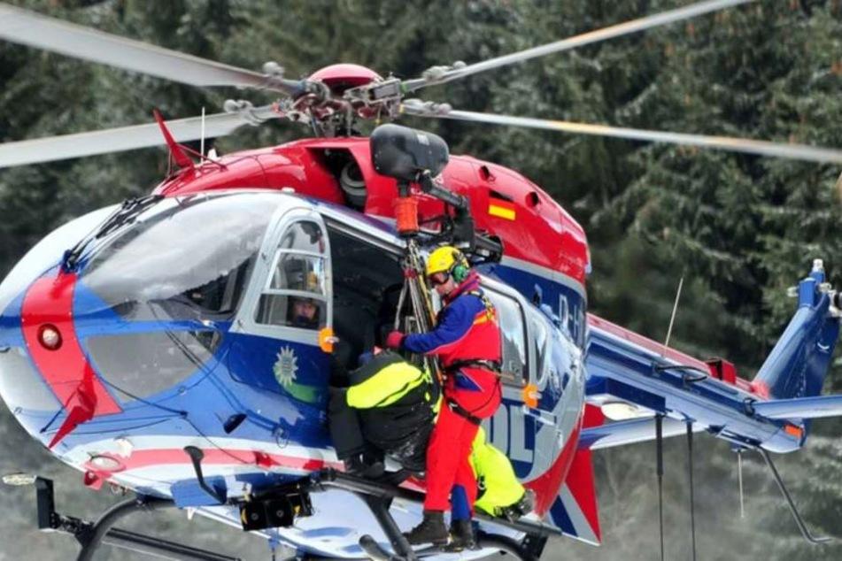 Die Bergwacht konnte die Beiden gerade noch retten. (Symbolbild)