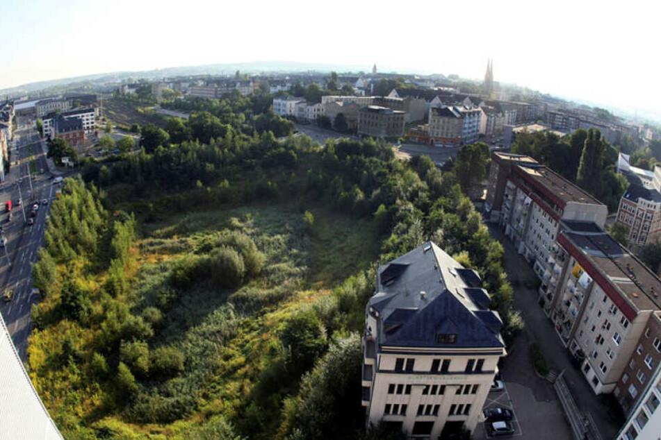 Es war einmal mitten in der Chemnitzer City: das Contiloch vor acht Jahren.