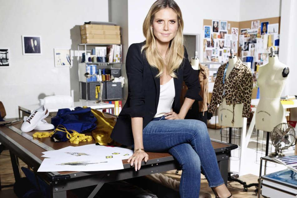 Heidi Klum in ihrem Atelier.