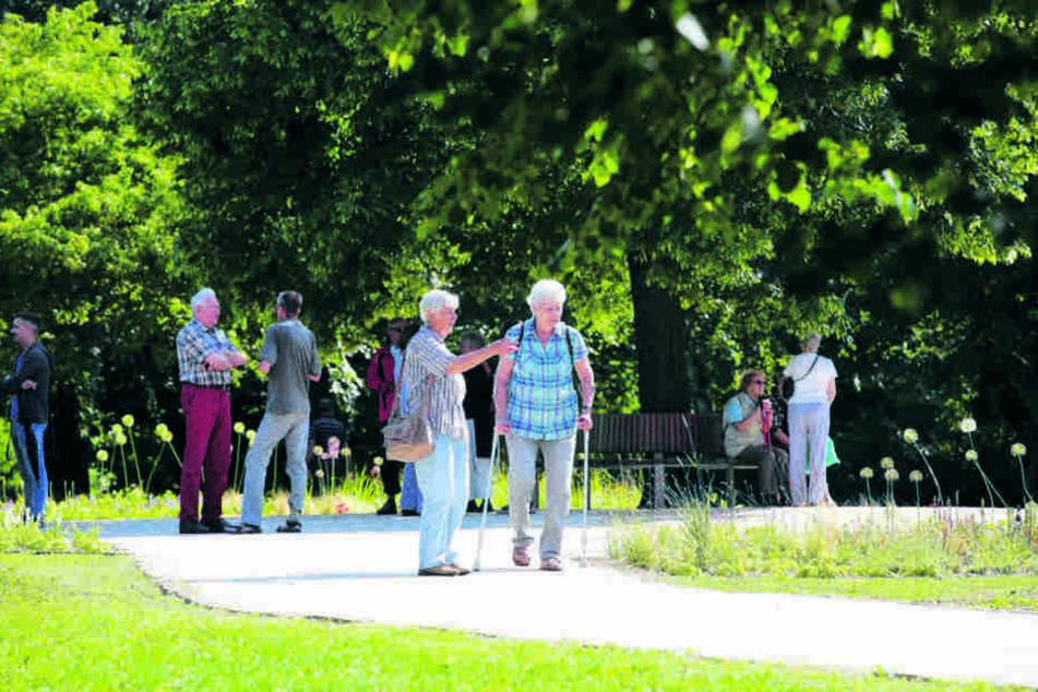 Endlich haben die Hellerauer ihren  Park wieder.