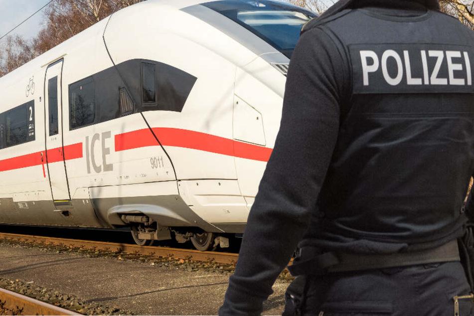 Die Polizei stoppt den ICE am Frankfurter Südbahnhof (Symbolbild).
