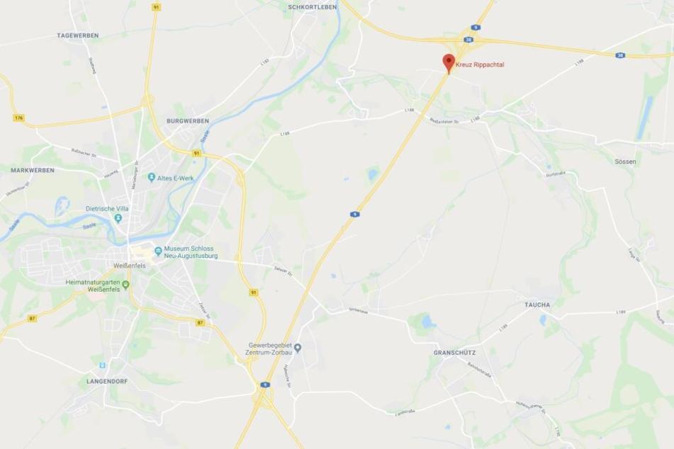 Der Unfall ereignete sich zwischen Weißenfels und dem Kreuz Rippachtal.