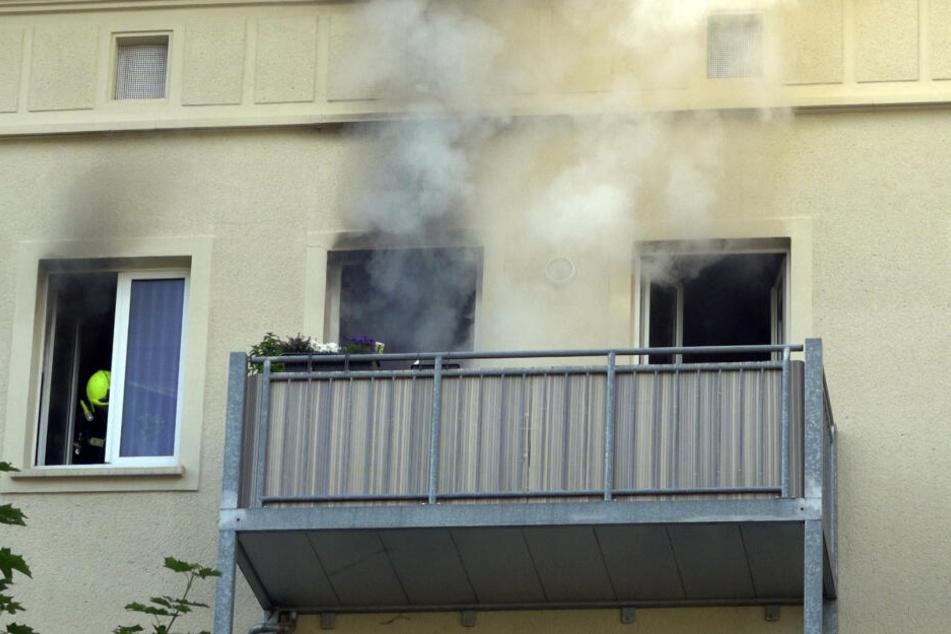 Chemnitz: Wohnung in der Chemnitzer City brennt