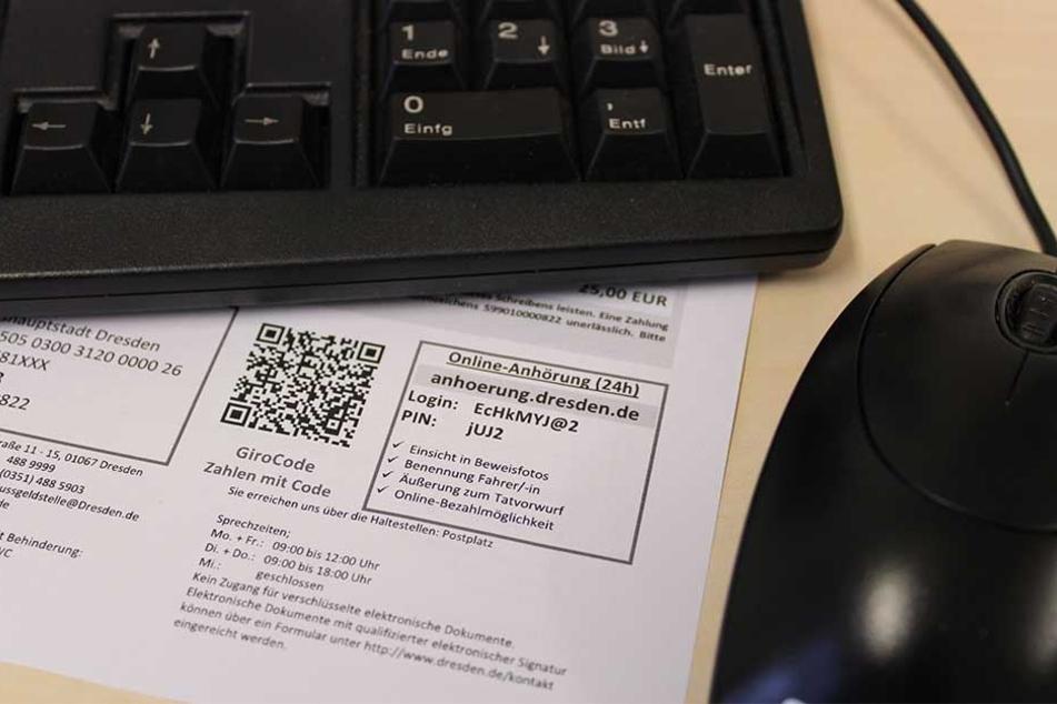 Fahr-Sünder bekommen ab 1. Februar einen Anhörungsbogen mit Zugangscode und Passwort für ein Online-Portal.