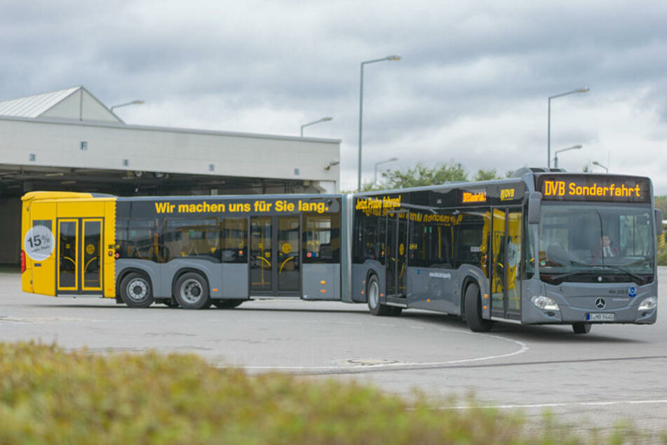 Die Münchner Verkehrsgesellschaft testet aktuell einen besonders  langen Gelenkbus der DVB.