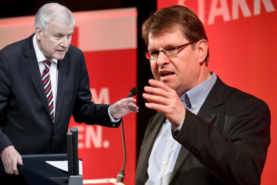 SPD-Vize Ralf Stegner (58, r.) warnt Innenminister Horst Seehofer (68), sein Wort zu halten.
