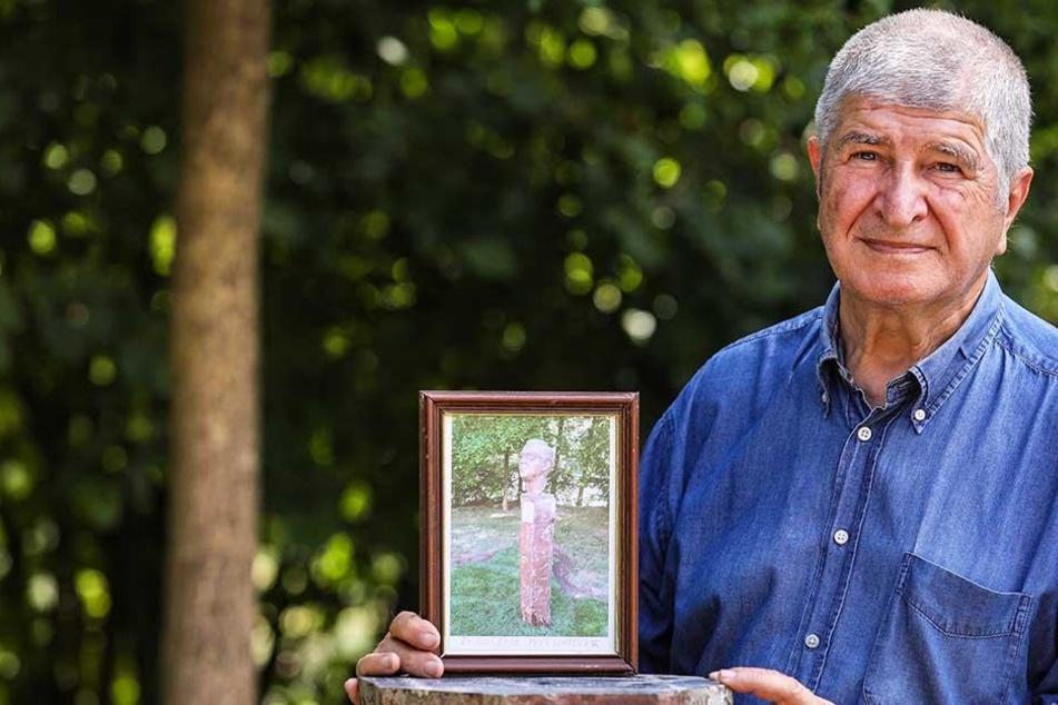Bildhauer Hans Kazzer (77) ist erschüttert über den dreisten Diebstahl.