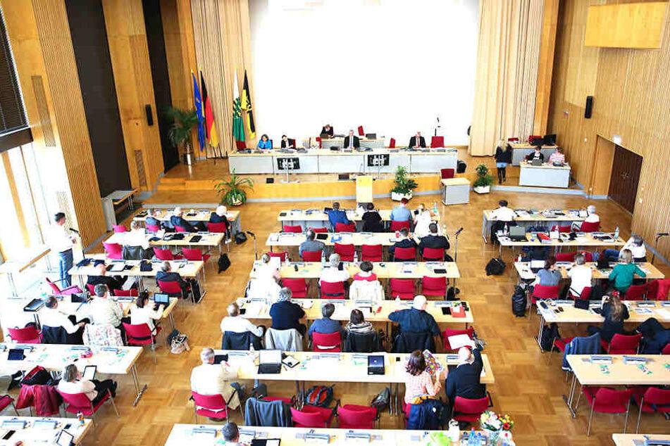 So sieht der Dresdner Stadtrat vollbesetzt aus.