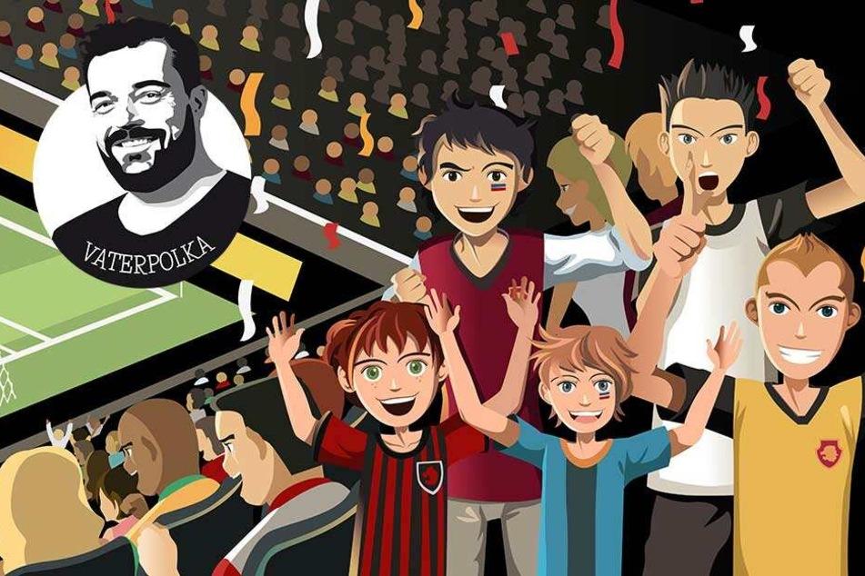 Mit dem Kind im Stadion: Fußball ist soooo langweilig