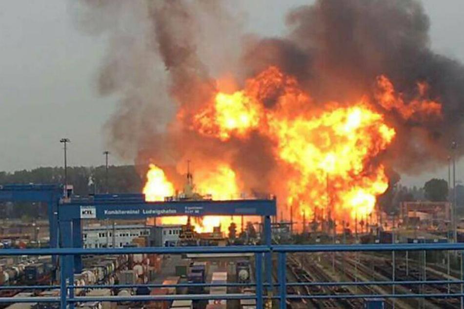 Gasexplosion im Oktober 2016 auf dem Gelände der BASF in Ludwigshafen.