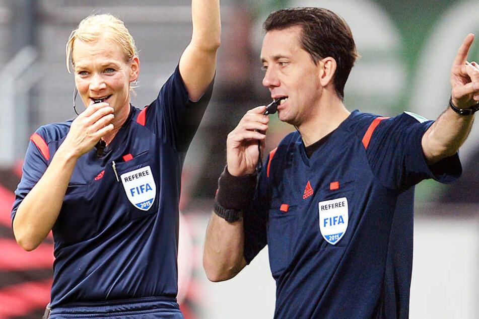 Haben gut lachen: Bibiana Steinhaus und Manuel Gräfe kassieren kommende Saison ordentlich.