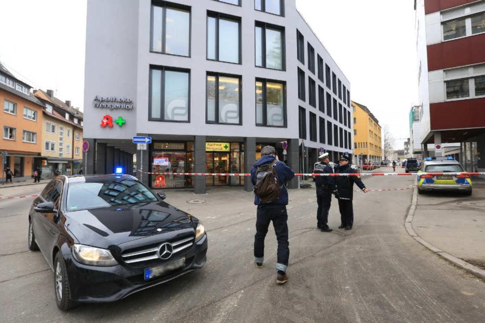 Am vergangenen Mittwoch wurde in Ulm eine Apotheke abgesperrt - wegen eines verdächtigen Pakets.