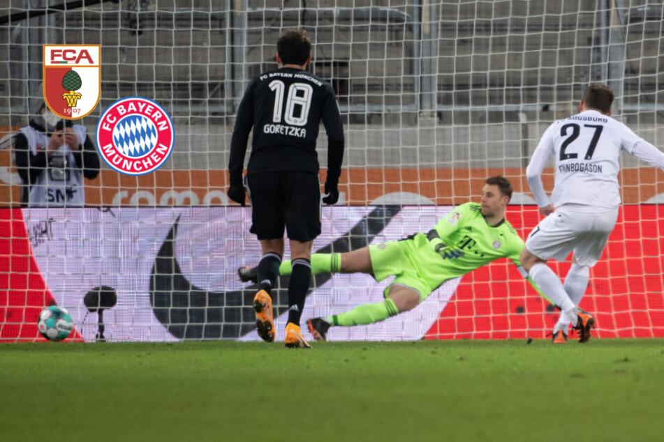FC Bayern mit Elfer-Dusel gegen Augsburg: Finnbogason als Unglücksrabe!