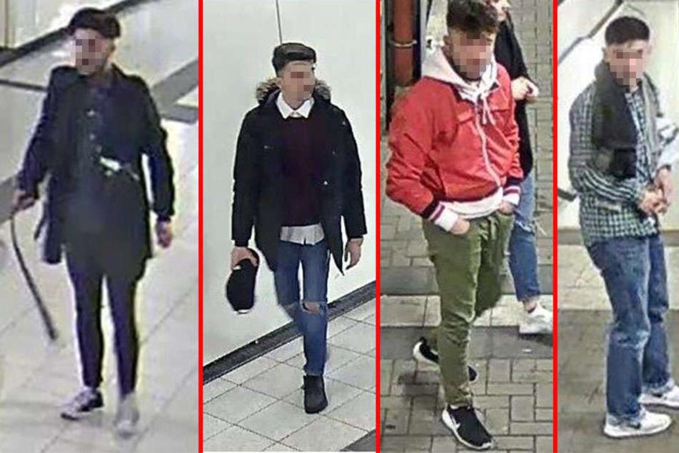 Die Polizei hat diese vier Tatverdächtigen dank konkreter Hinweise schnappen können.