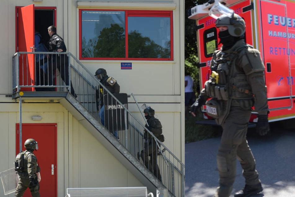 Großeinsatz in Hamburg: Mann randaliert in Flüchtlingsunterkunft