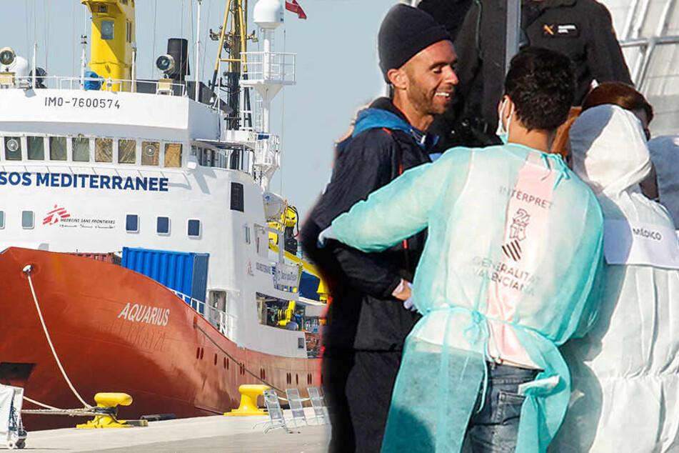 """Alle geretteten Migranten der """"Aquarius"""" in Spanien angekommen"""