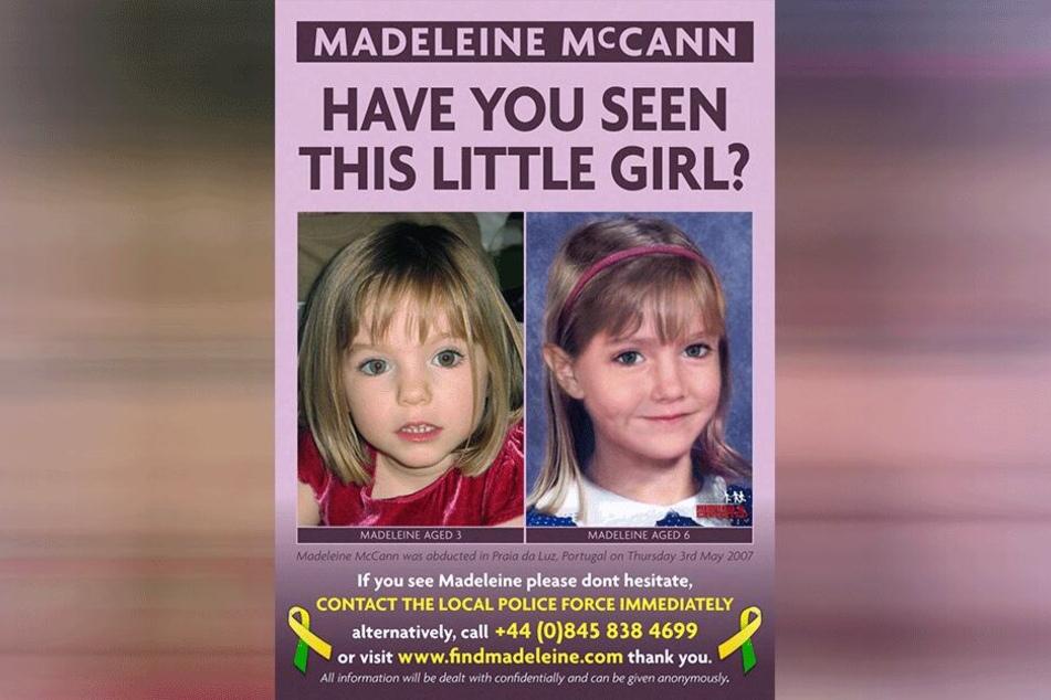 Maddie McCann auf einer der zahlreichen Suchanzeigen.