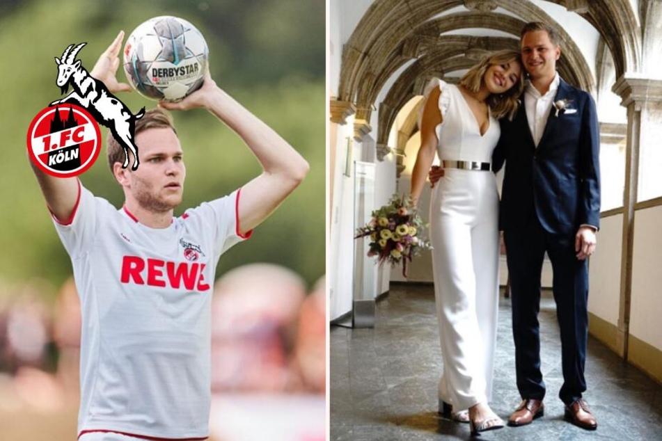 FC-Profi Benno Schmitz zeigt sich frisch vermählt